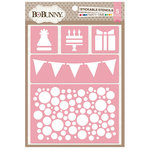 BoBunny - Stickable Stencils - Party Time