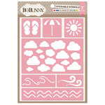 BoBunny - Stickable Stencils - Summertime