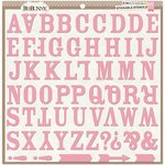 BoBunny - Stickable Stencils - Alphabet