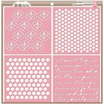 Bo Bunny - Stickable Stencils - Brocade