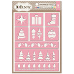 BoBunny - Christmas - Stickable Stencils - Deck The Halls