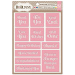 BoBunny - Stickable Stencils - Simply Sentiments