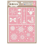 BoBunny - Christmas - Stickable Stencils - Winter Fun