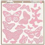 BoBunny - Stickable Stencils - Butterflies