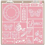 BoBunny - Stickable Stencils - Love
