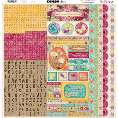 Bo Bunny - Ambrosia Collection - 12 x 12 Cardstock Stickers - Combo