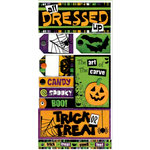 Bo Bunny Press - Spooktastic Collection - Cardstock Stickers - All Dressed Up