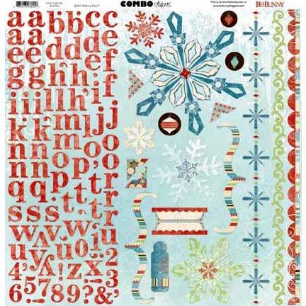 Bo Bunny - Blitzen Collection - Christmas - 12 x 12 Cardstock Stickers - Combo