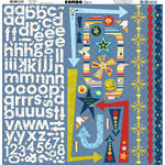 Bo Bunny Press - Blast Off Collection - 12 x 12 Cardstock Stickers - Blast Off Combo