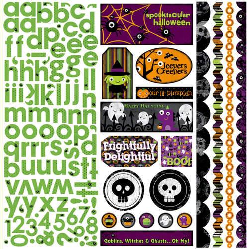 Bo Bunny Press - Boo Crew Collection - Halloween - 12 x 12 Cardstock Stickers - Boo Crew Combo