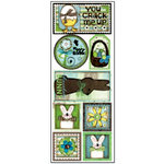 Bo Bunny Press - Abbey Road Collection - Cardstock Stickers - Chocolate Bunny, CLEARANCE