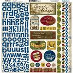 Bo Bunny Press - Cambridge Collection - 12 x 12 Cardstock Stickers - Cambridge Combo