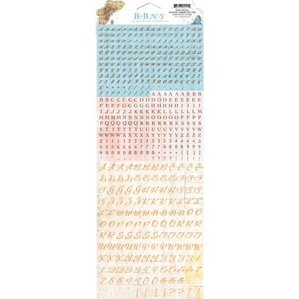 Bo Bunny - Country Garden Collection - Cardstock Stickers - Tiny Type