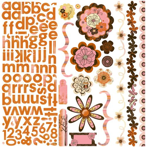 Bo Bunny Press - Delilah Collection - 12 x 12 Cardstock Stickers - Delilah Combo, CLEARANCE