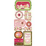 Bo Bunny Press - Vicki B Collection - Cardstock Stickers - Egg-stravaganza