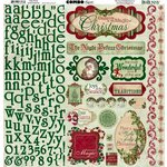 Bo Bunny Press - Father Christmas Collection - 12 x 12 Cardstock Stickers - Combo