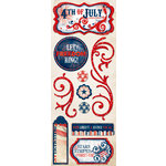 Bo Bunny Press - Liberty Collection - Cardstock Stickers - Freedom and Fireworks