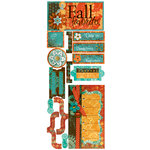 Bo Bunny Press - Gypsy Collection - Cardstock Stickers - Fall Favorites, CLEARANCE