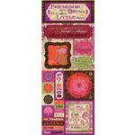 Bo Bunny - Garden Girl Collection - Cardstock Stickers - Friendship