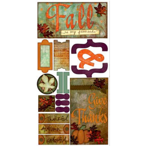 Bo Bunny Press - Beautiful Life Collection - Cardstock Stickers - Fall Is My Favorite