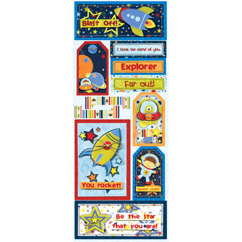 Bo Bunny - Blast Off Collection - Cardstock Stickers - Far Out
