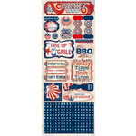 Bo Bunny - Liberty Collection - Cardstock Stickers - Family Times