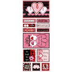 Bo Bunny - Crush Collection - Valentine - Cardstock Stickers - Forever Yours