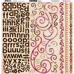 Bo Bunny - Garden Girl Collection - 12 x 12 Cardstock Stickers - Combo