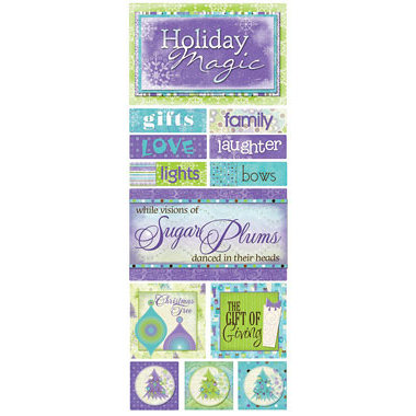 Bo Bunny Press - Winter Joy Collection - Christmas - Cardstock Stickers - The Gift of Giving