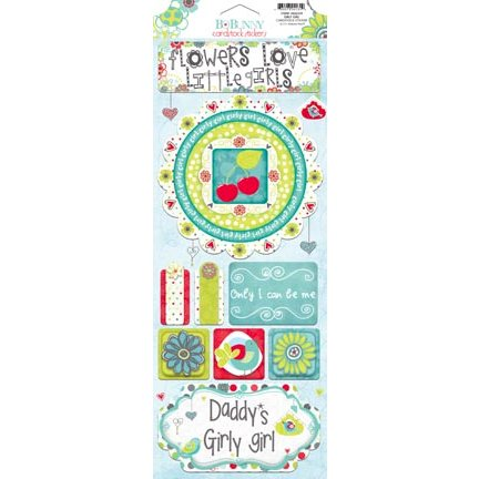 Bo Bunny - Alora Collection - Cardstock Stickers - Girly Girl