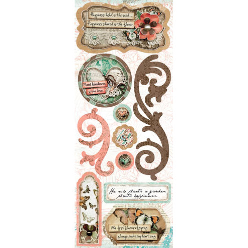 Bo Bunny - Gabrielle Collection - Cardstock Stickers - Grow Love