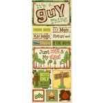Bo Bunny Press - Roughin' It Collection - Cardstock Stickers - It's A Guy Thing, CLEARANCE