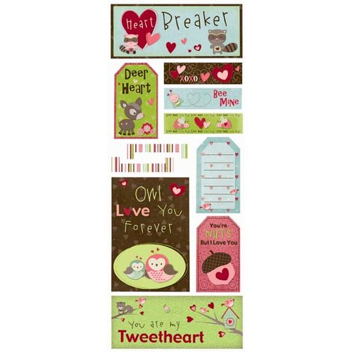 Bo Bunny Press - Love Bandit Collection - Cardstock Stickers - Heartbreaker, CLEARANCE
