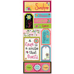 Bo Bunny Press - Petal Pushers Collection - Cardstock Stickers - Happiness Is, CLEARANCE