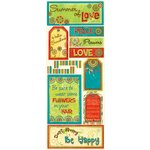 Bo Bunny Press - Flower Child Collection - Cardstock Stickers - Hello Sunshine, CLEARANCE