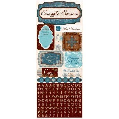 Bo Bunny - Snowfall Collection - Cardstock Stickers - Happy Winter