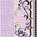 Bo Bunny Press - Jazmyne Collection - 12 x 12 Cardstock Stickers - Jazmyne Combo