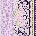 Bo Bunny Press - Jazmyne Collection - 12 x 12 Cardstock Stickers - Jazmyne Combo