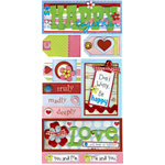 Bo Bunny Press - Flirty Collection - Cardstock Stickers - Keep Us Together