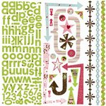 Bo Bunny Press - Love Bandit Collection - 12 x 12 Cardstock Stickers - Love Bandit Combo, CLEARANCE