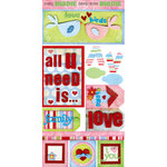Bo Bunny Press - Flirty Collection - Cardstock Stickers - Love Birds