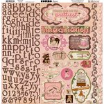 Bo Bunny - Little Miss Collection - 12 x 12 Cardstock Stickers - Combo