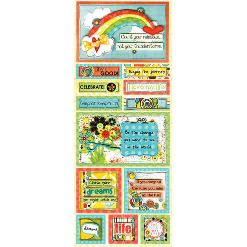 Bo Bunny - Ad Lib Collection - Cardstock Stickers - Life's Good