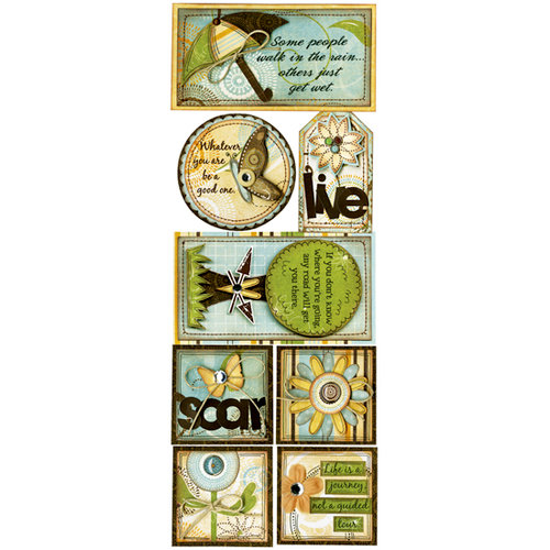 Bo Bunny Press - Flutter Butter Collection - Cardstock Stickers - Life Is A Journey, CLEARANCE