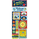 Bo Bunny - Blast Off Collection - Cardstock Stickers - Monkeyin' Around