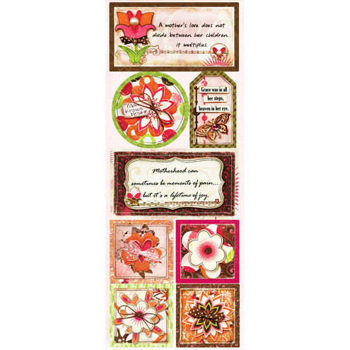 Bo Bunny - Vicki B Collection - Cardstock Stickers - Mom Knows Best