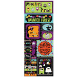 Bo Bunny Press - Whoo-ligans Collection - Halloween - Cardstock Stickers - Monsters on Parade