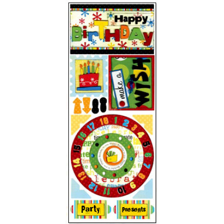 Bo Bunny Press - It's My Party Collection - Cardstock Stickers - Make A Wish