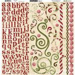 Bo Bunny Press - Noel Collection - Christmas - 12 x 12 Cardstock Stickers - Noel Combo