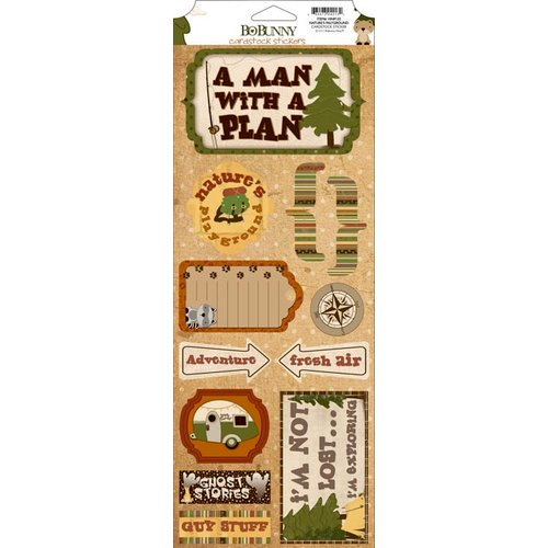 Bo Bunny - Camp-A-Lot Collection - Cardstock Stickers - Nature's Playground